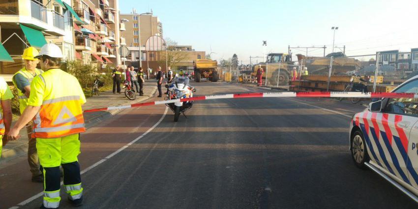 Foto van ongeval met kiepwagen