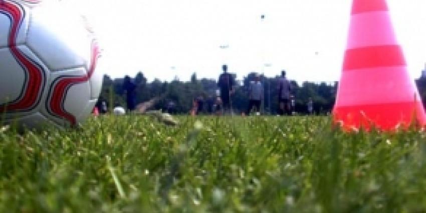 Foto van bal op voetbalveld | EHF