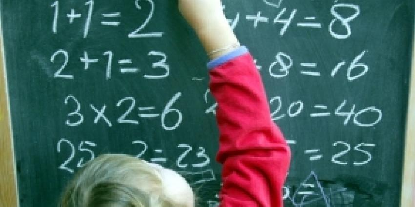 Foto van kind voor het schoolbord | Archief FBF.nl