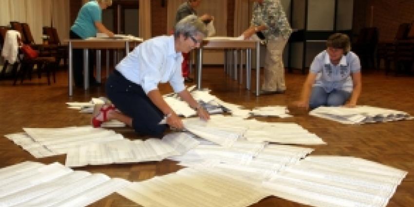 Foto van tellen van de stemmen | Archief FBF.nl