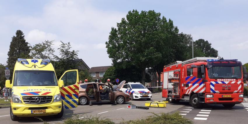 Hulpverlening bij ongeval in Klazienaveen