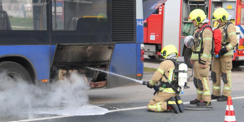 Brand in RET bus Hoekse Lijn