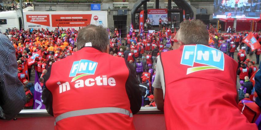 Foto van demonstratie op Grote Markt