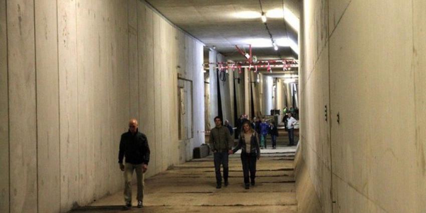 Foto van metrotunnel onder het IJ | Archief FBF.nl