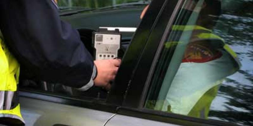 Foto van blaastest alcohol politie | Archief EHF