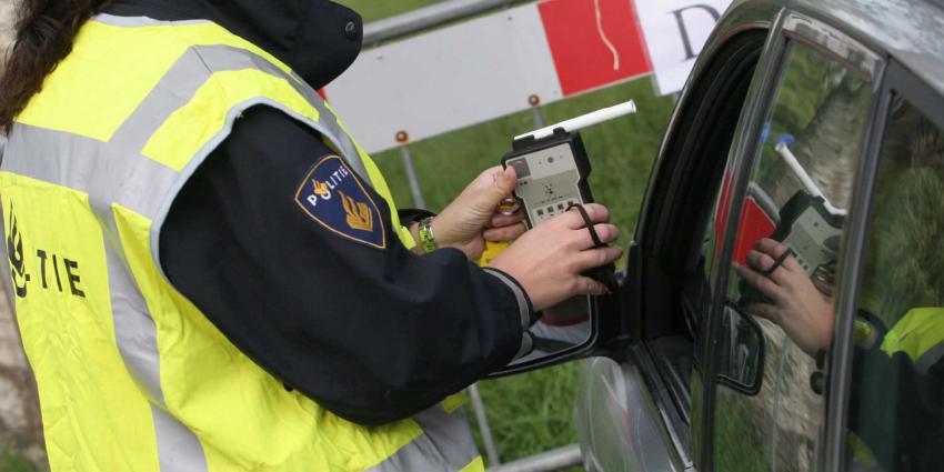 Teveel restalcohol bij 31 bestuurders bij alcoholcontrole Zwarte Cross