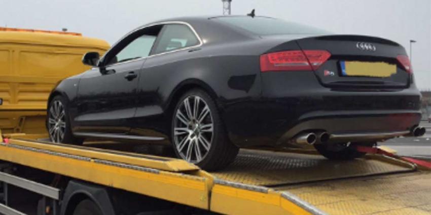 Dure Audi S5 afgepakt door politie van verdachte witwassen