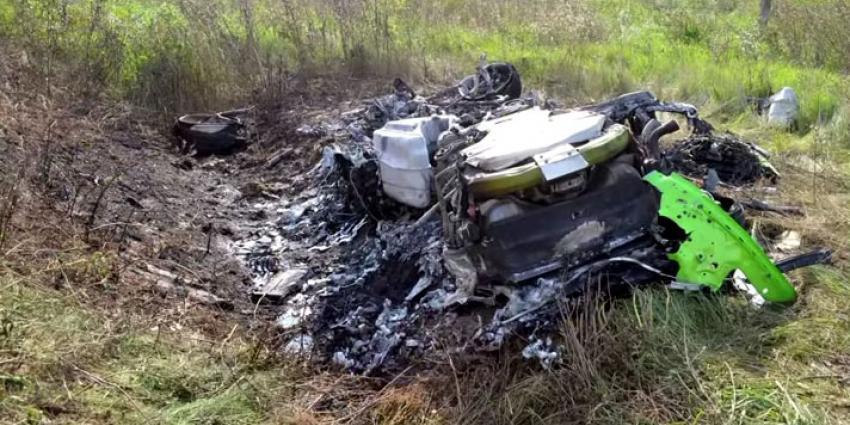 Lamborghini Crash met 320 km/h