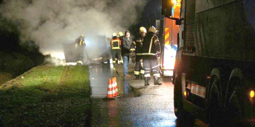 Inzittenden op tijd uit in brand gevlogen auto Erica