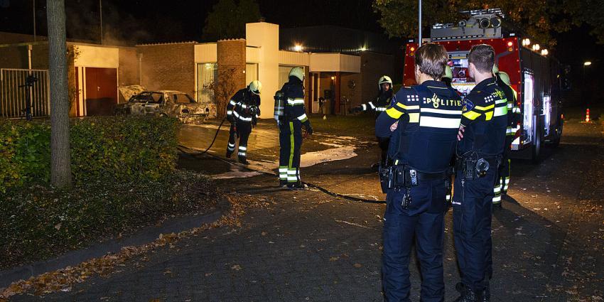 Opnieuw auto in vlammen op op zelfde adres