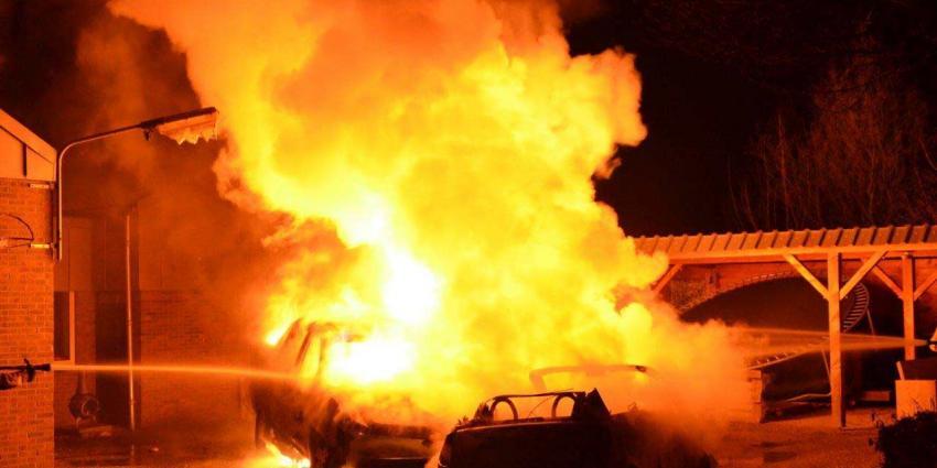 Meerdere auto´s uitgebrand in STadskanaal