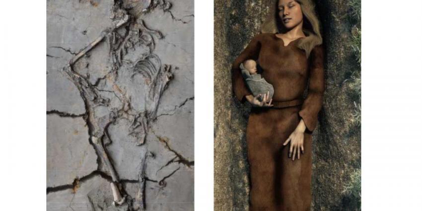 6000 jaar oud babylijkje in arm vrouw gevonden in Nieuwegein