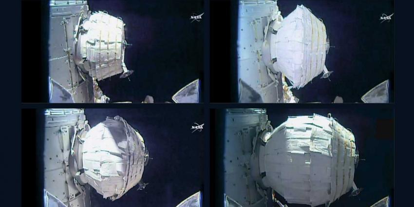 'Ballonkamer' ISS toch nog succesvol opgeblazen