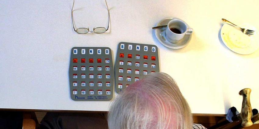 Foto van bejaarde in verzorgingstehuis | Archief EHF