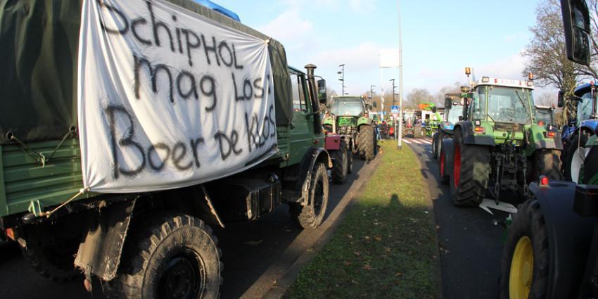 Boze boeren massaal richting Hilversum mediapark