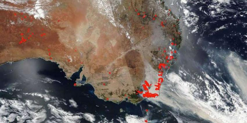 Bosbranden Australië vormen gezondheidsrisico's