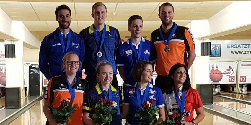 Nederlands team wint zilver en brons op EK bowlen