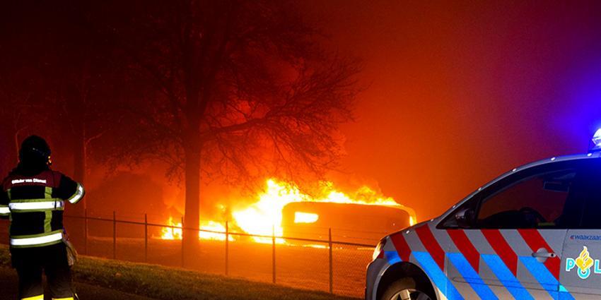 Foto van brand in caravan   Archief EHF