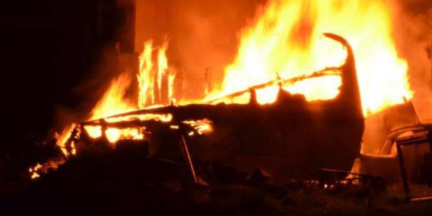 Gewonde bij brand in caravan