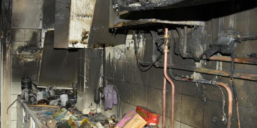 Keuken met brandschade
