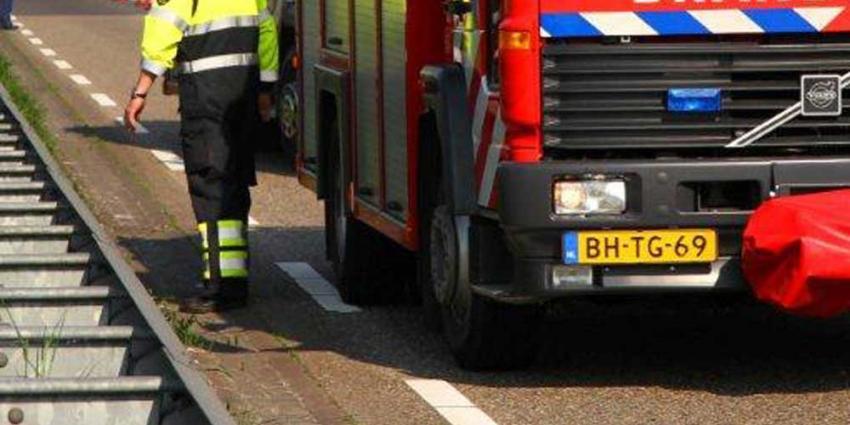 Foto van brandweerauto op snelweg | Archief Tom Louter | www.112brabantnieuws.nl