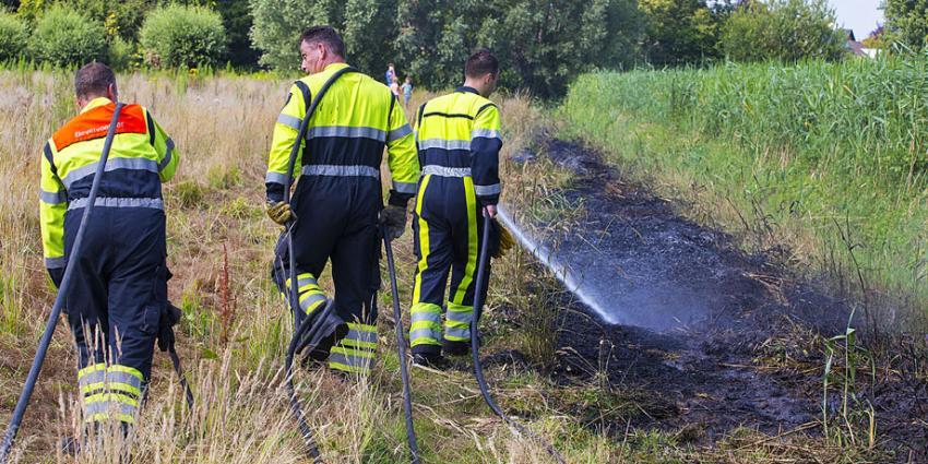 Zomerse droogte zorgt voor natuurbrand in Schijndel