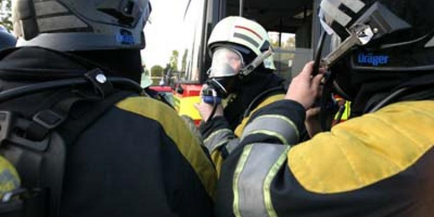 Foto van brandweer met perslucht   Archief EHF