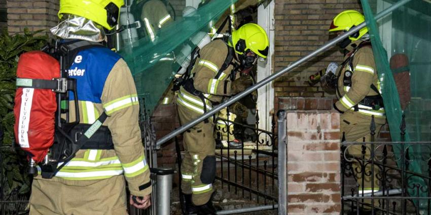Brand in kruipruimte woning Schiedam