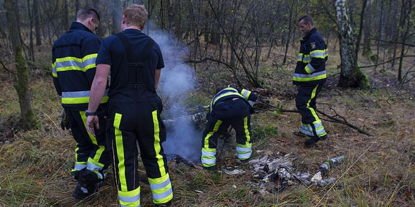 Brandweer blust brandje van vandalen