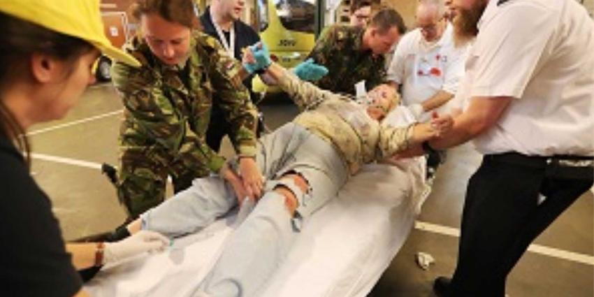 Grote rampenoefening in Centraal Militair Hospitaal