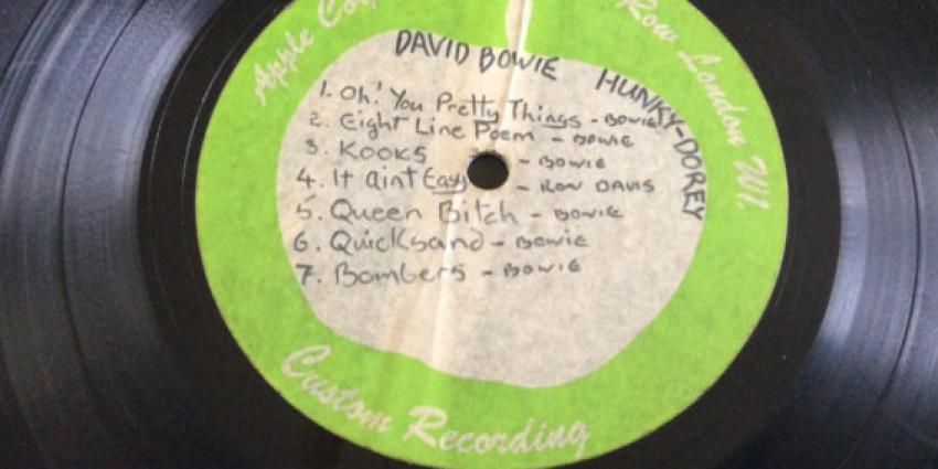 Duurste lp David Bowie ooit onder de hamer
