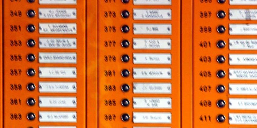 Foto van deurbel en naamplaatjes in flat | Archief EHF