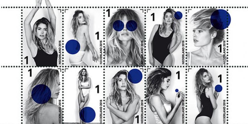 Fotomodel Doutzen Kroes komt uit op postzegel