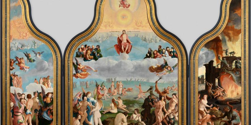 Foto van drieluik het 'Laatste Oordeel'   Rijksmuseum/Lakenhal