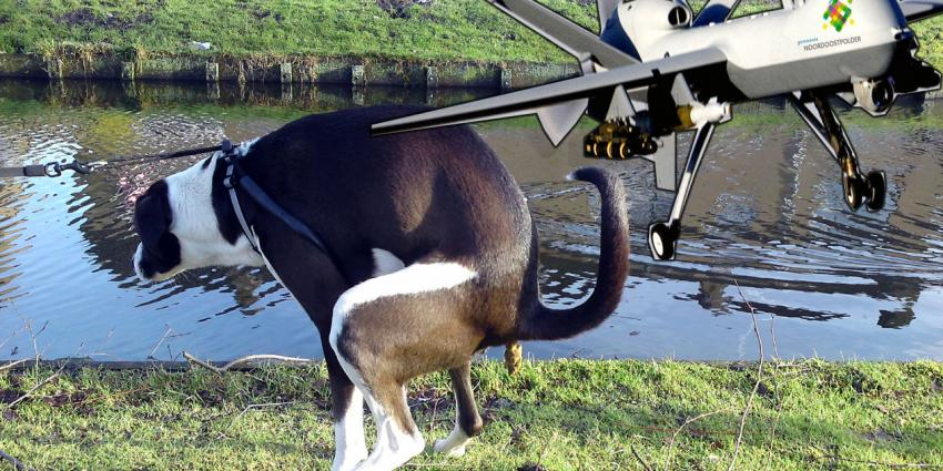 Gemeente Emmeloord gaat hondenpoep te lijf met drone