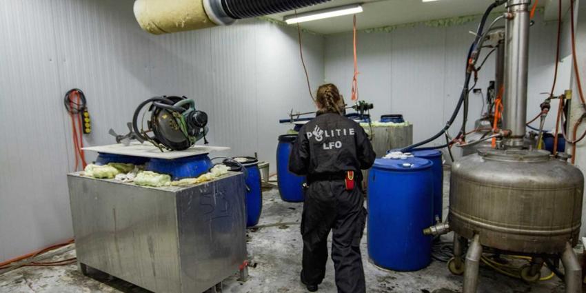 Drugslab aangetroffen in Schiedam