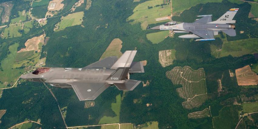 Minimaal geluidsverschil tussen F-35 en F-16