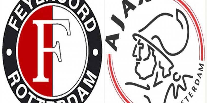 Foto van logo's van Feyenoord en Ajax | Feyenoord/Ajax