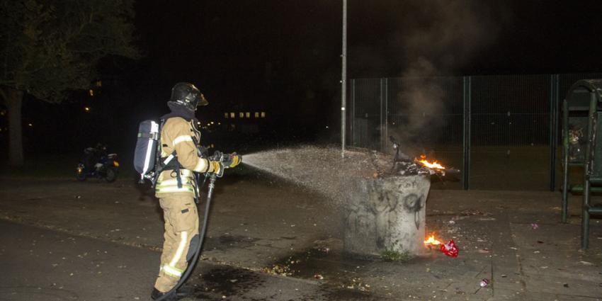 Fietsen in brand gestoken