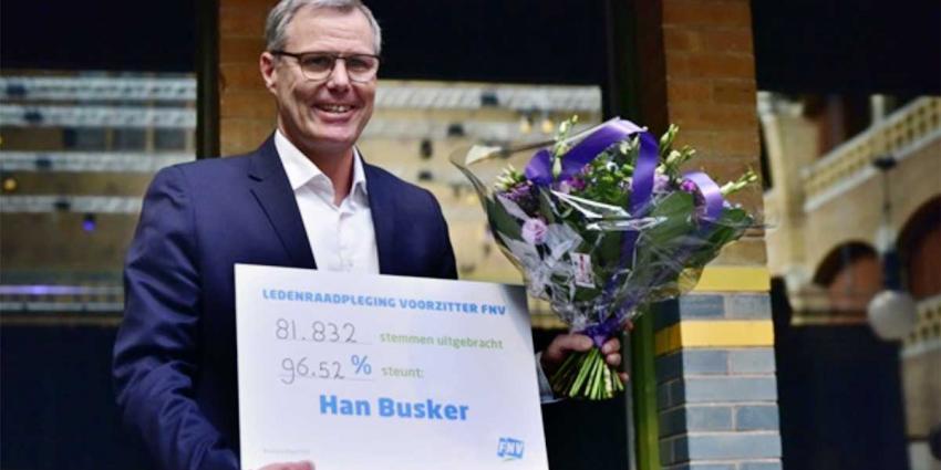 FNV-leden bijna unaniem voor Han Busker als nieuwe voorzitter