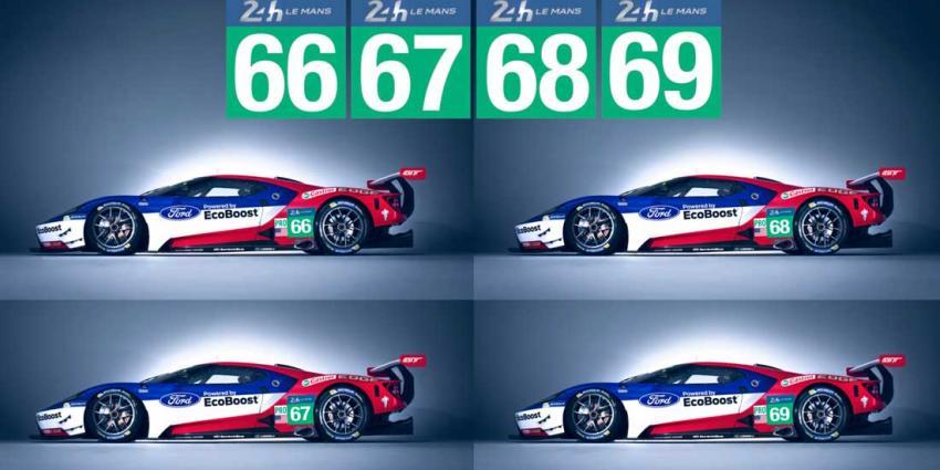 Deelname vier Ford GTs aan Le Mans 2016 bevestigd