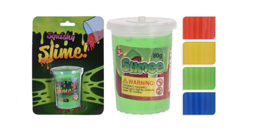 veiligheidswaarschuwing slijm in potje, 4 kleuren Free & Easy