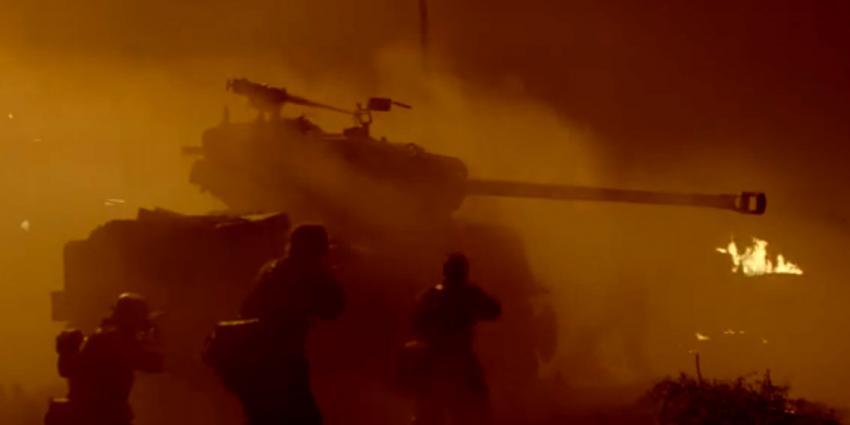 Brad Pitt en Shia LeBeouf in Fury