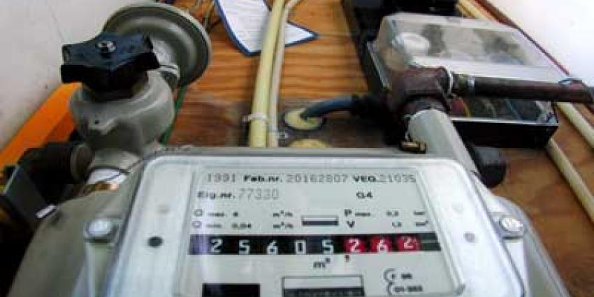 Foto van gasmeter in meterkast | Archief EHF