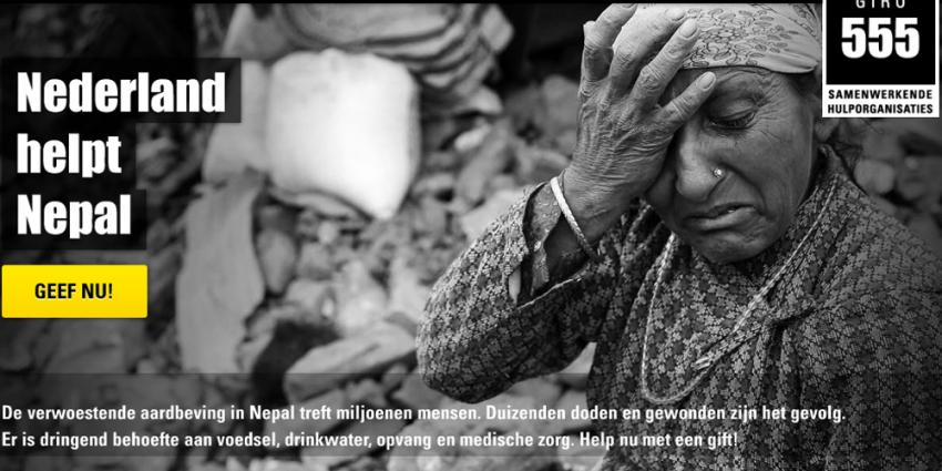 Nederland helpt Nepal via Giro555
