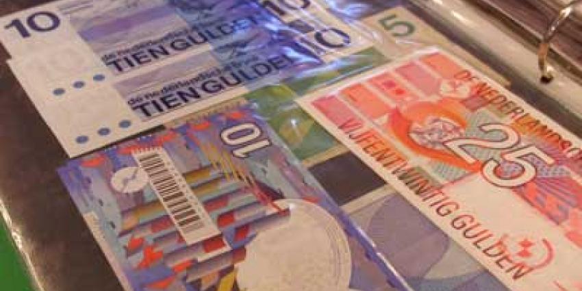 Foto van bankbiljetten gulden   Archief EHF