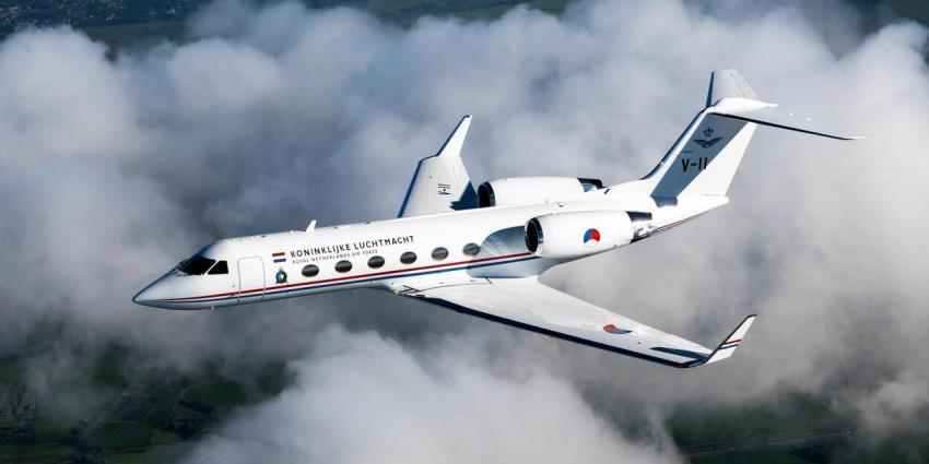 Gulfstream in de lucht