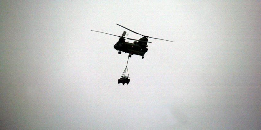 Chinook transporthelikopters aangekomen op Kamp Castor in het Malinese Gao