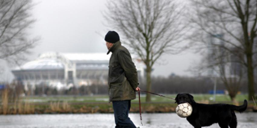 Foto van hond voetbal Arena Ajax | Archief EHF