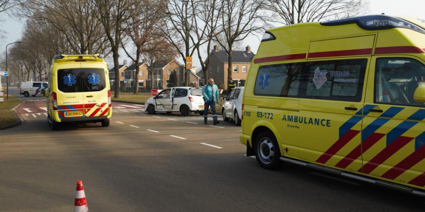 Hulpverleners aanwezig op plaats ongeval